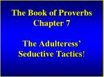 the book of proverbs chapter 7 the adulteress seductive tactics