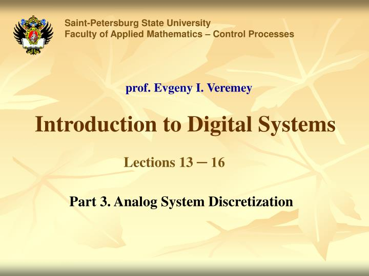 introduction to digital systems n.