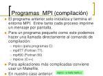programas mpi compilaci n