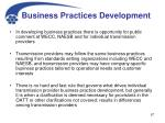 business practices development
