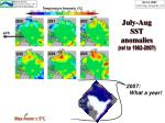 july aug sst anomalies rel to 1982 2007