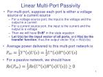 linear multi port passivity