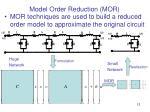 model order reduction mor