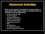 abatement activities1