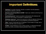 important definitions