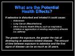 what are the potential health effects