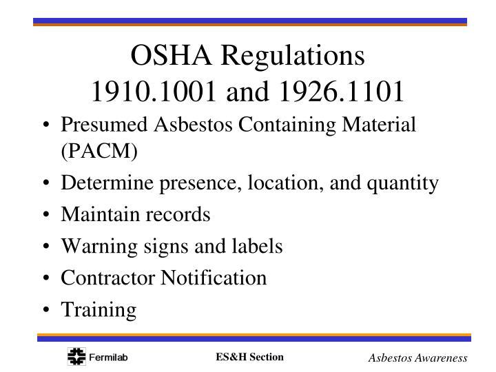 Presumed Asbestos Containing Material (PACM)