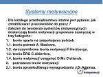 systemy motywacyjne