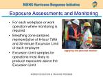 exposure assessments and monitoring