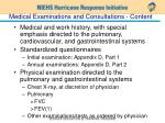 medical examinations and consultations content