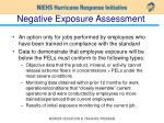 negative exposure assessment