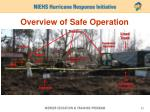 overview of safe operation