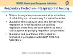 respiratory protection respirator fit testing