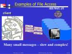 examples of file access srb posix api