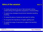 aims of the session2