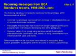 recurring messages from qca standards reports 1998 2002 cont