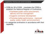 legislative framework and mandate1