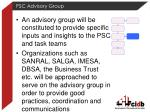 psc advisory group