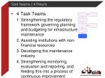 task teams 4 thrusts