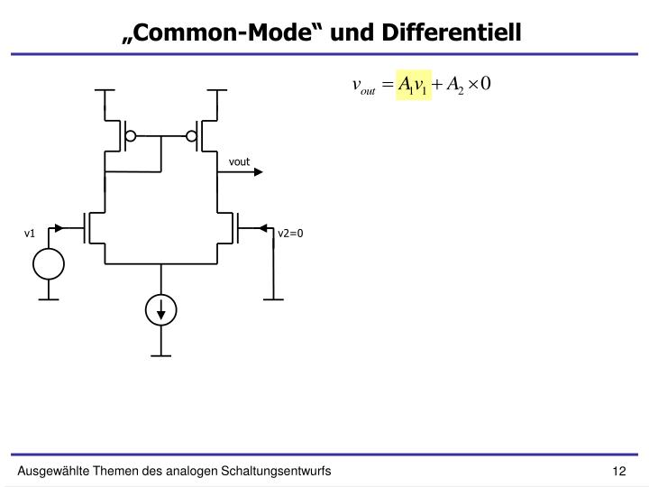 """Common-Mode"" und Differentiell"