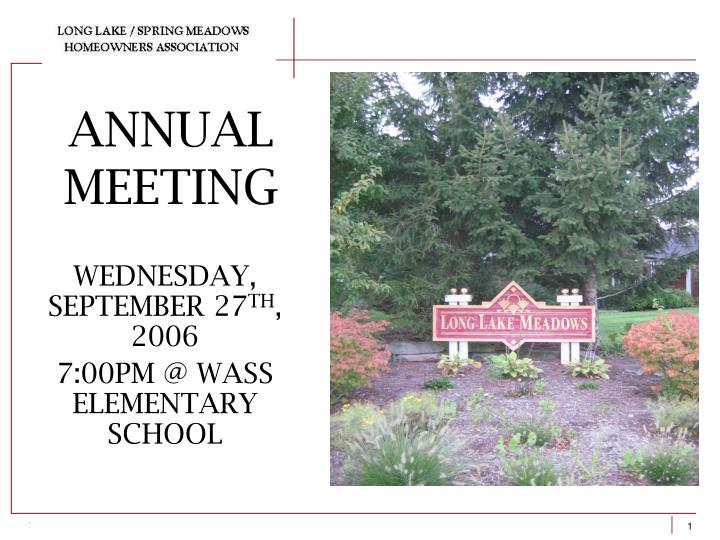 annual meeting n.