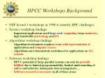 hpcc workshops background