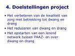 4 doelstellingen project