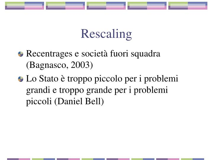 Rescaling