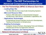 paci the nsf partnerships for advanced computational infrastructure
