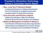president s information technology advisory committee interim report