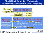 the ncsa information workbench an architecture for web based computing