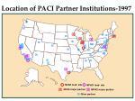 location of paci partner institutions 1997