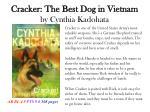 cracker the best dog in vietnam by cynthia kadohata
