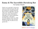 emmy the incredible shrinking rat by lynne jonell