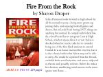 fire from the rock by sharon draper
