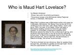 who is maud hart lovelace