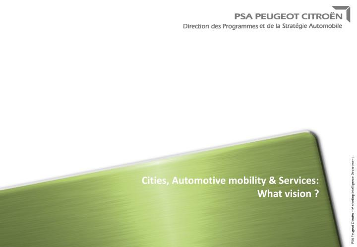 cities automotive mobility services what vision n.