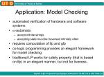application model checking