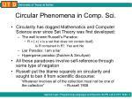 circular phenomena in comp sci