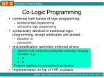 co logic programming