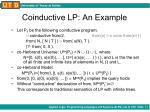 coinductive lp an example