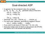 goal directed asp1