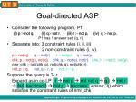 goal directed asp2