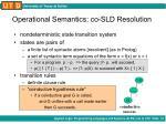 operational semantics co sld resolution