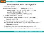 verification of real time systems