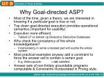 why goal directed asp