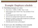 example employee schedule