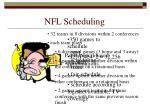 nfl scheduling