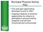 municipal physical activity plan