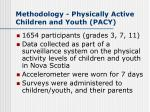 methodology physically active children and youth pacy